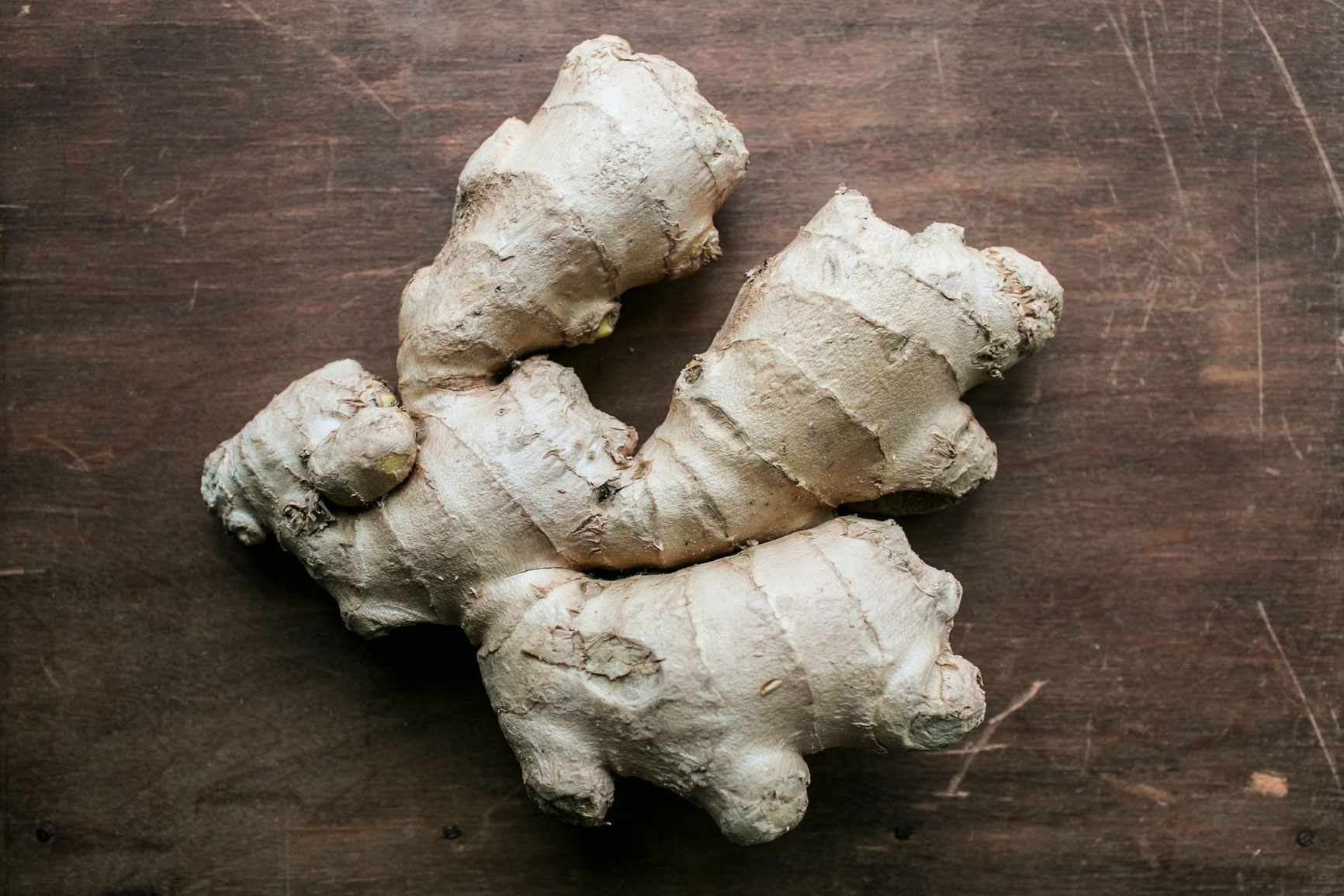 A large piece of ginger root