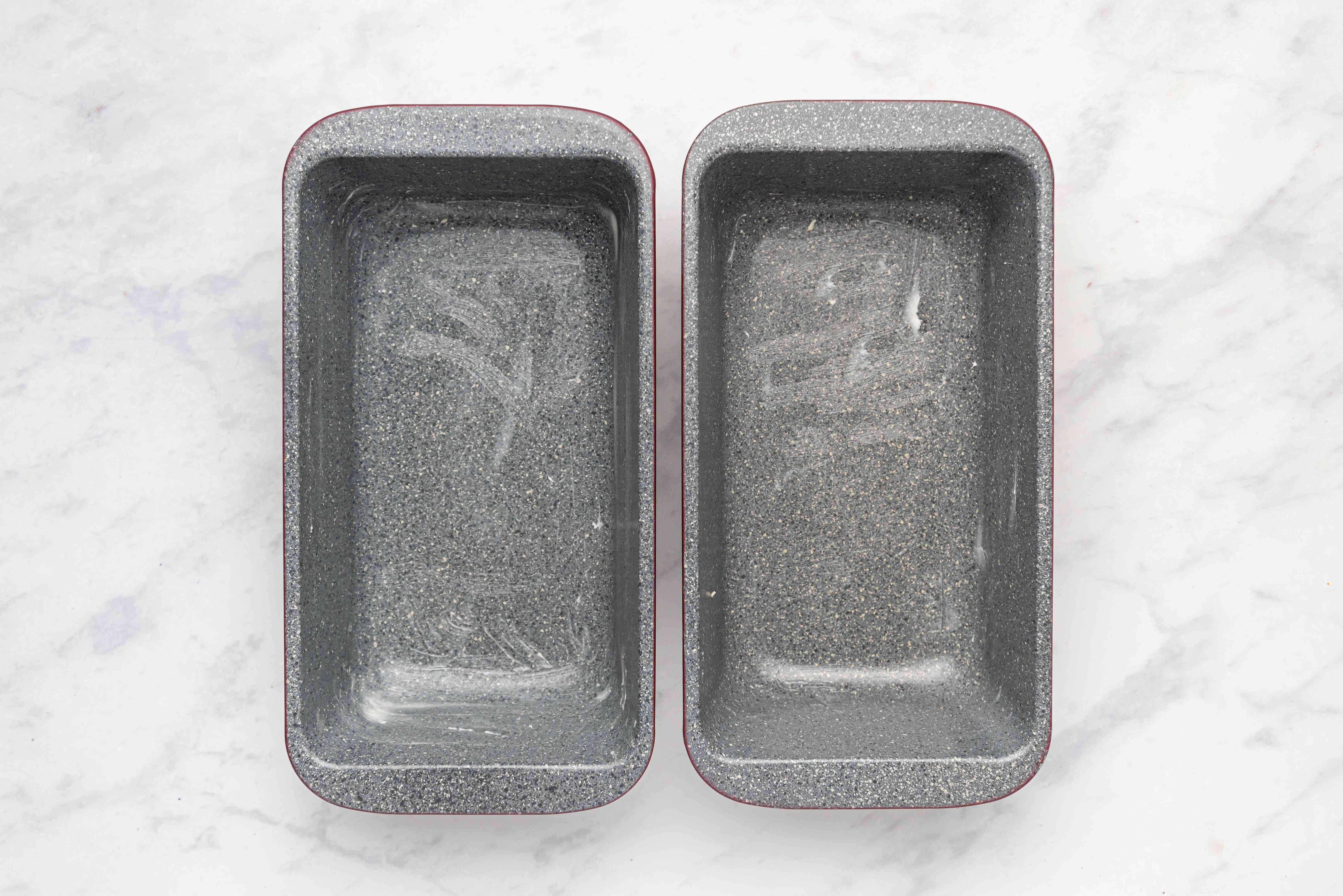greased bread pans