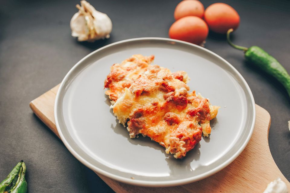 Overnight Sausage and Egg Breakfast Casserole