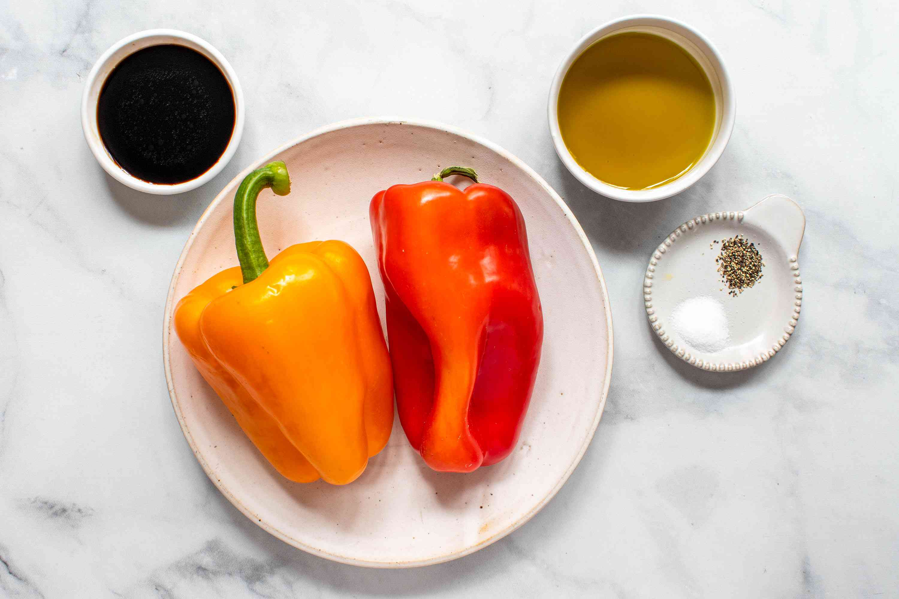 Balsamic Peppers Side Dish ingredients