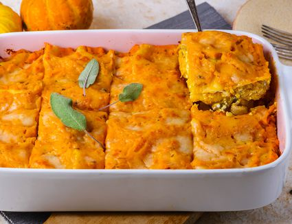 Vegetarian pumpkin lasagna recipe