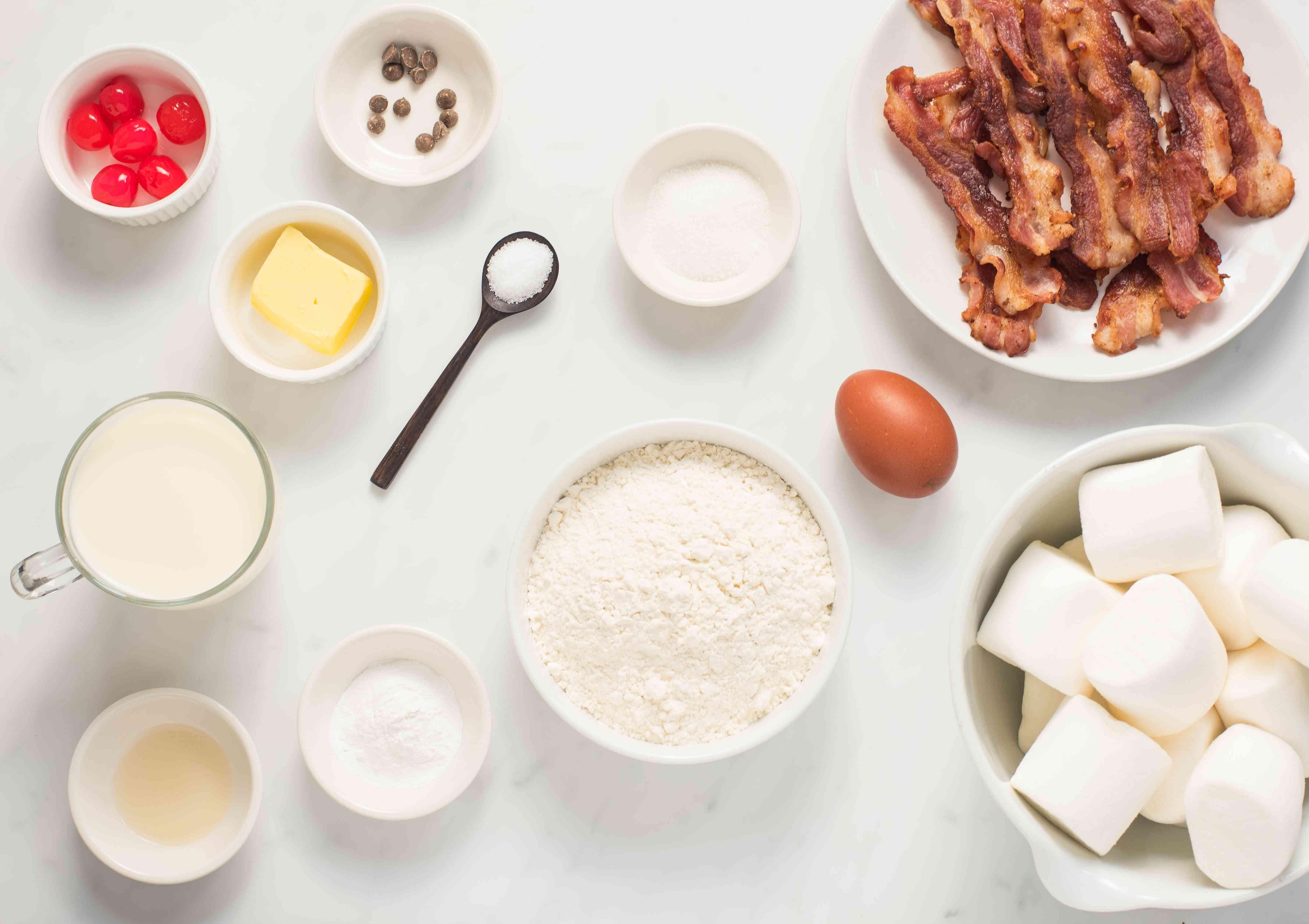 Ingredients for reindeer pancakes