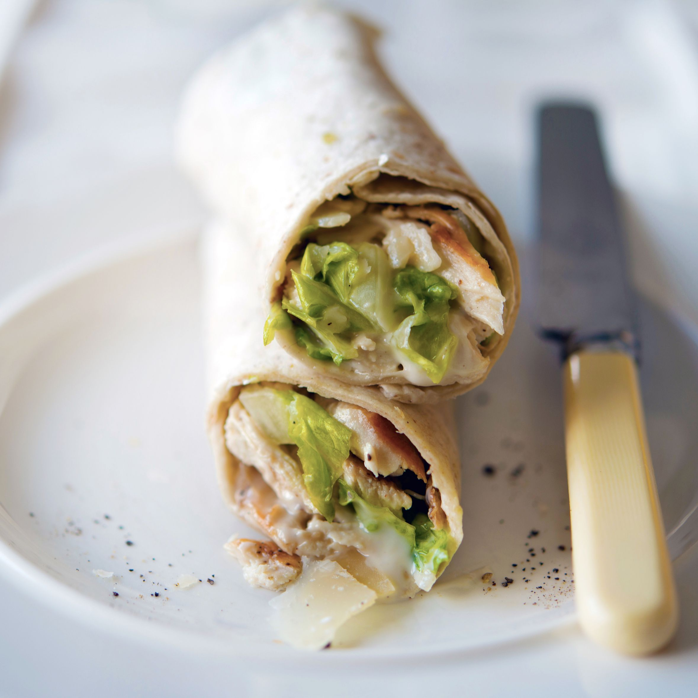 Classic Grilled Chicken Caesar Salad Wraps