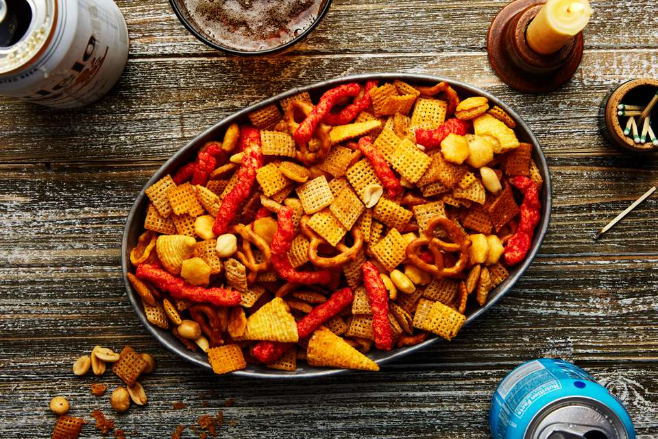 Devilishly spicy Chex mix recipe
