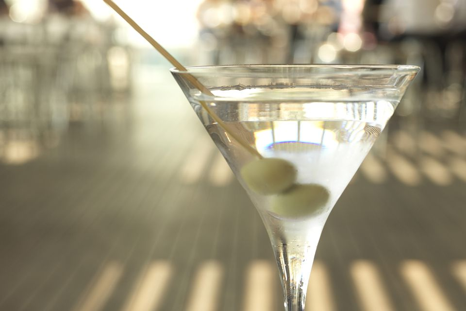 50-50 Martini Cocktail