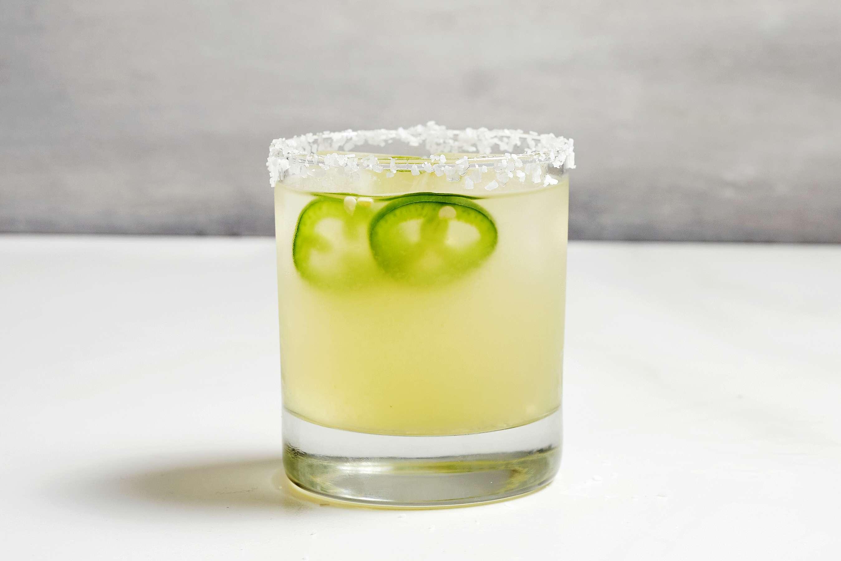 Jalapeño Margarita in a glass