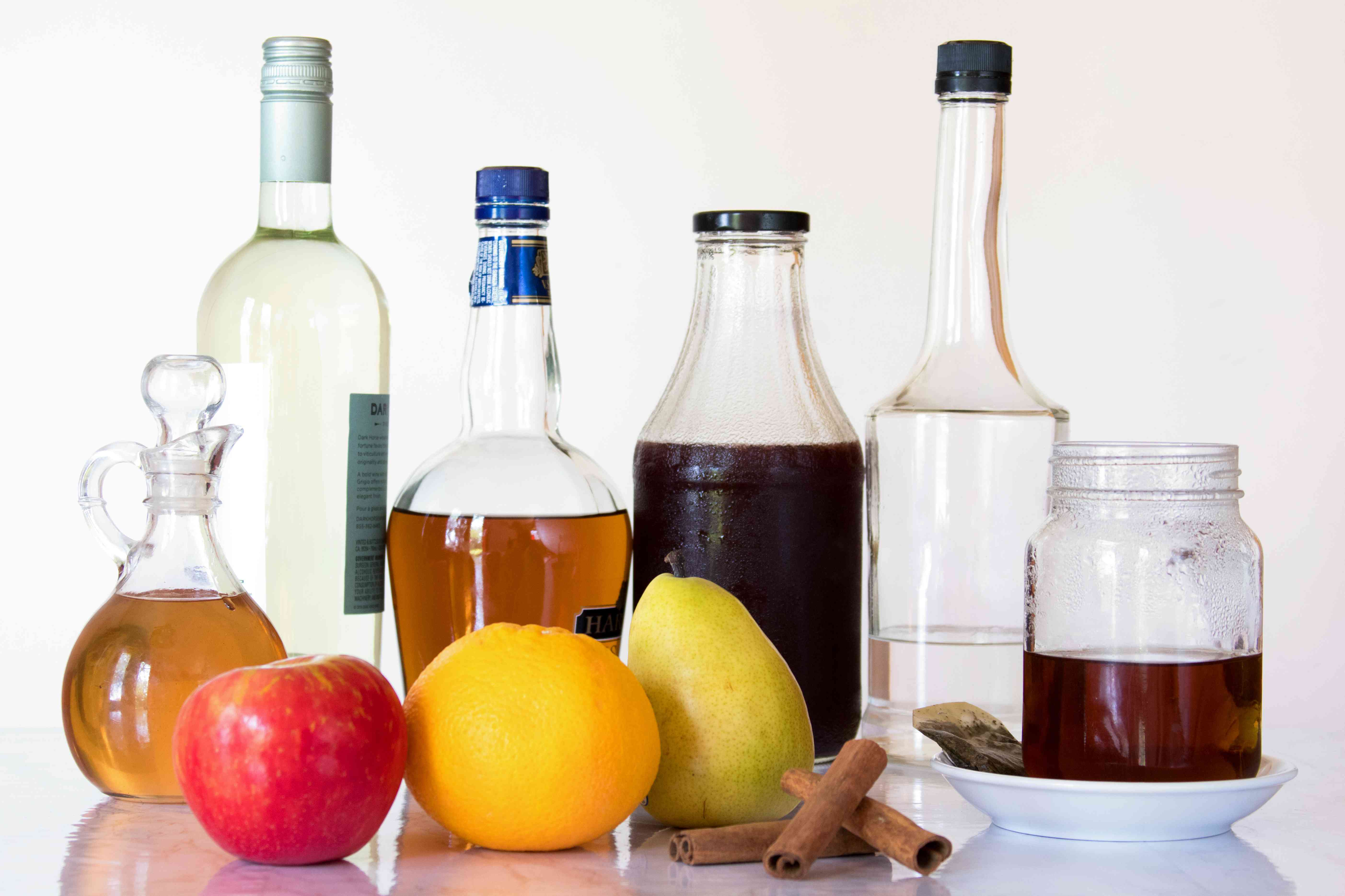 Ingredients for a Thanksgiving Fall Sangria