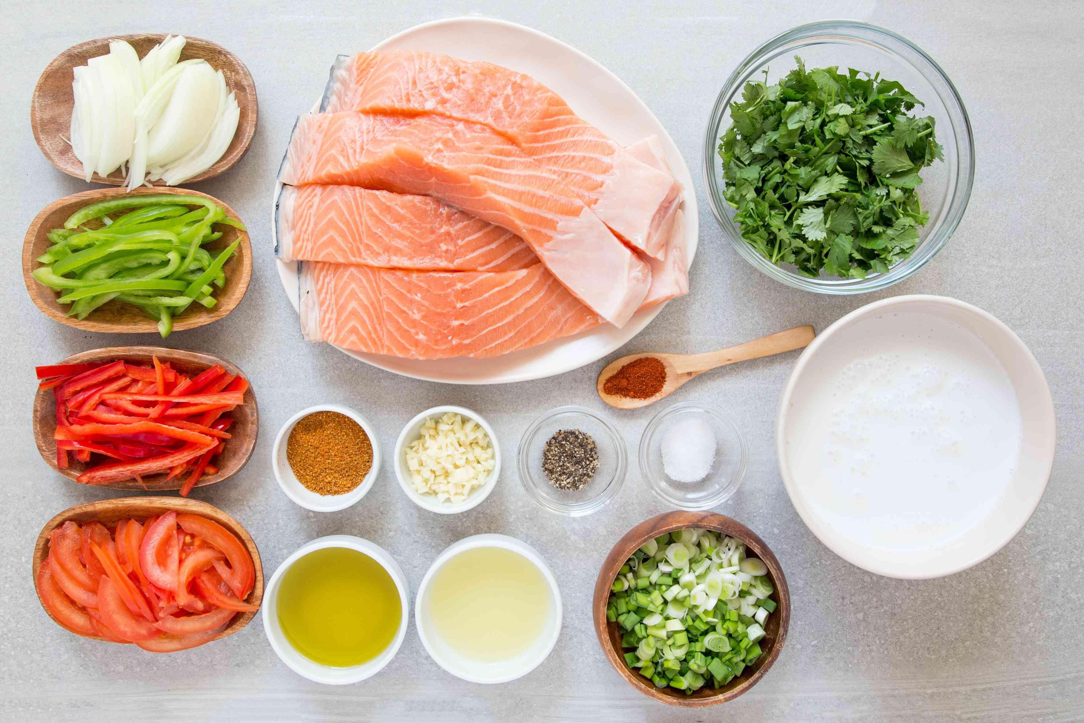 Brazilian Fish Stew (Moqueca de Peixe) ingredients