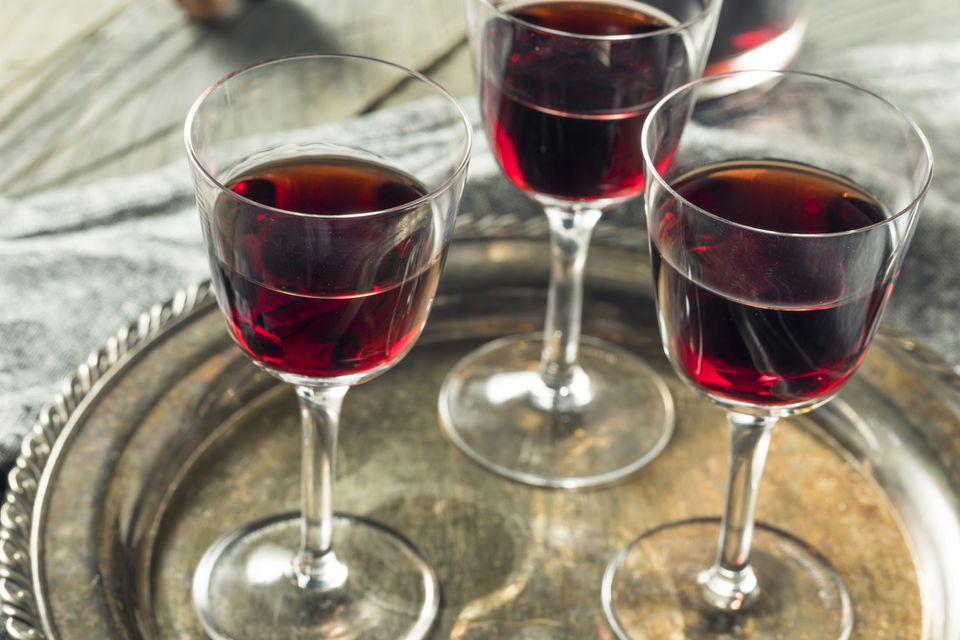 Sweet port dessert wine