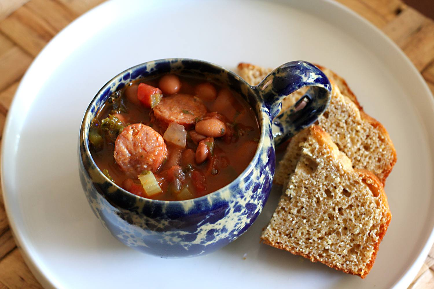 Pinto Bean Soup With Spicy Sausage
