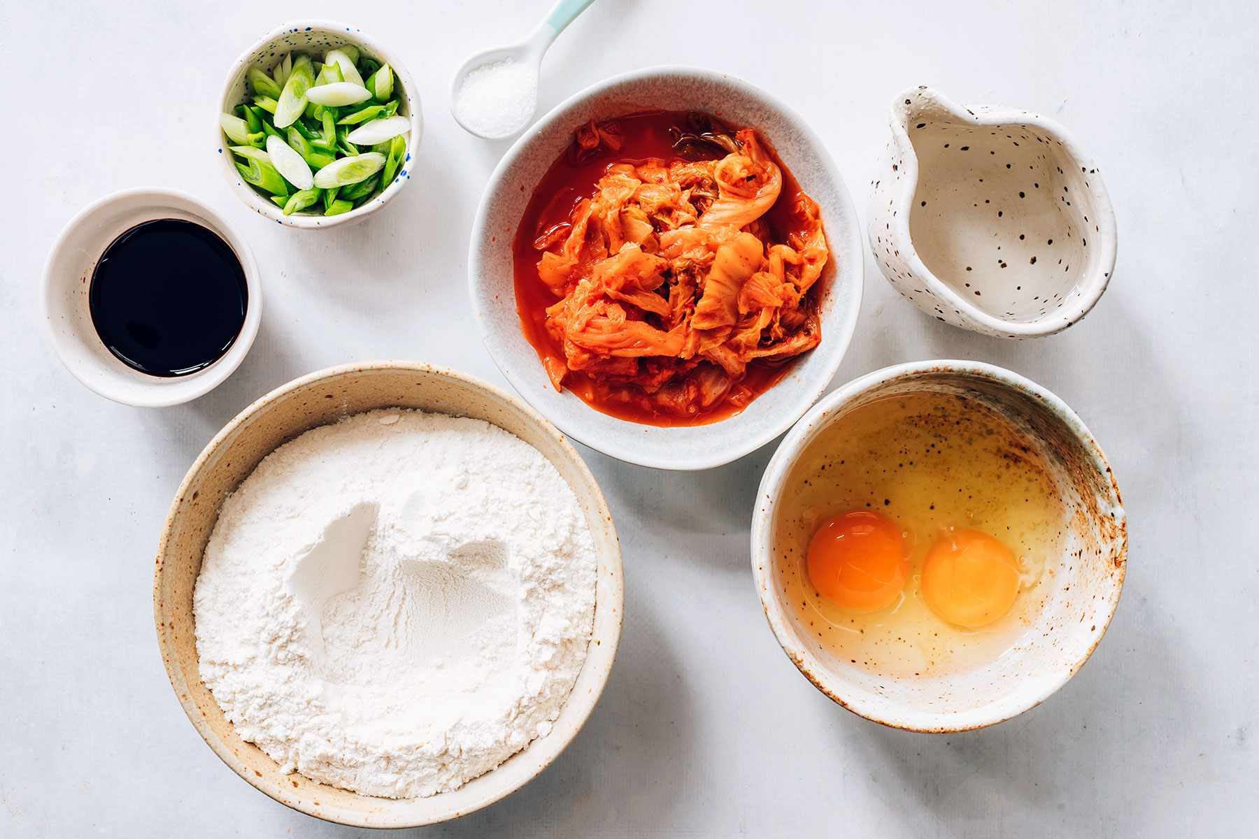 Korean Kimchi Pancakes ingredients