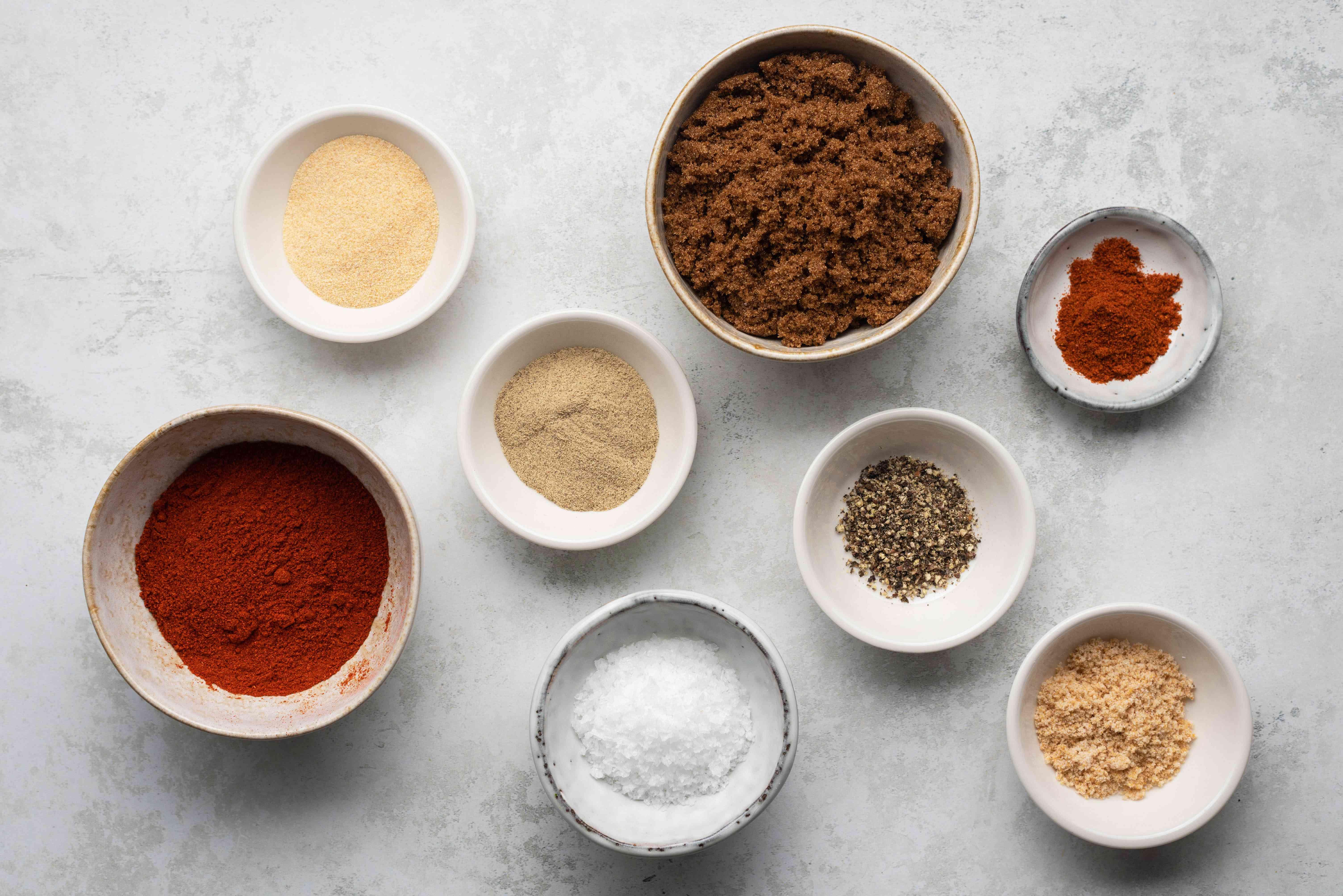 Sparerib Dry Rub ingredients