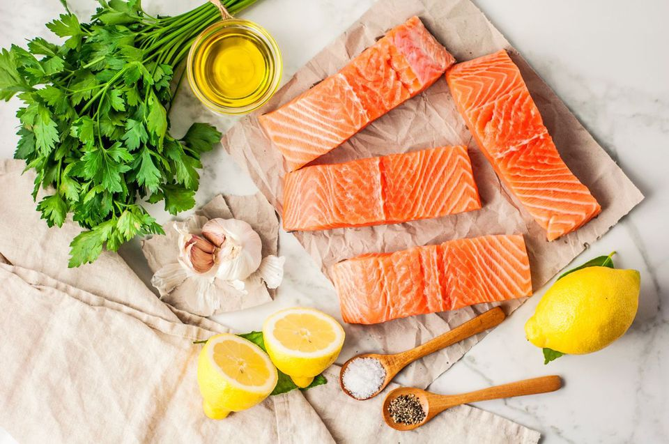 Baked salmon ingredients