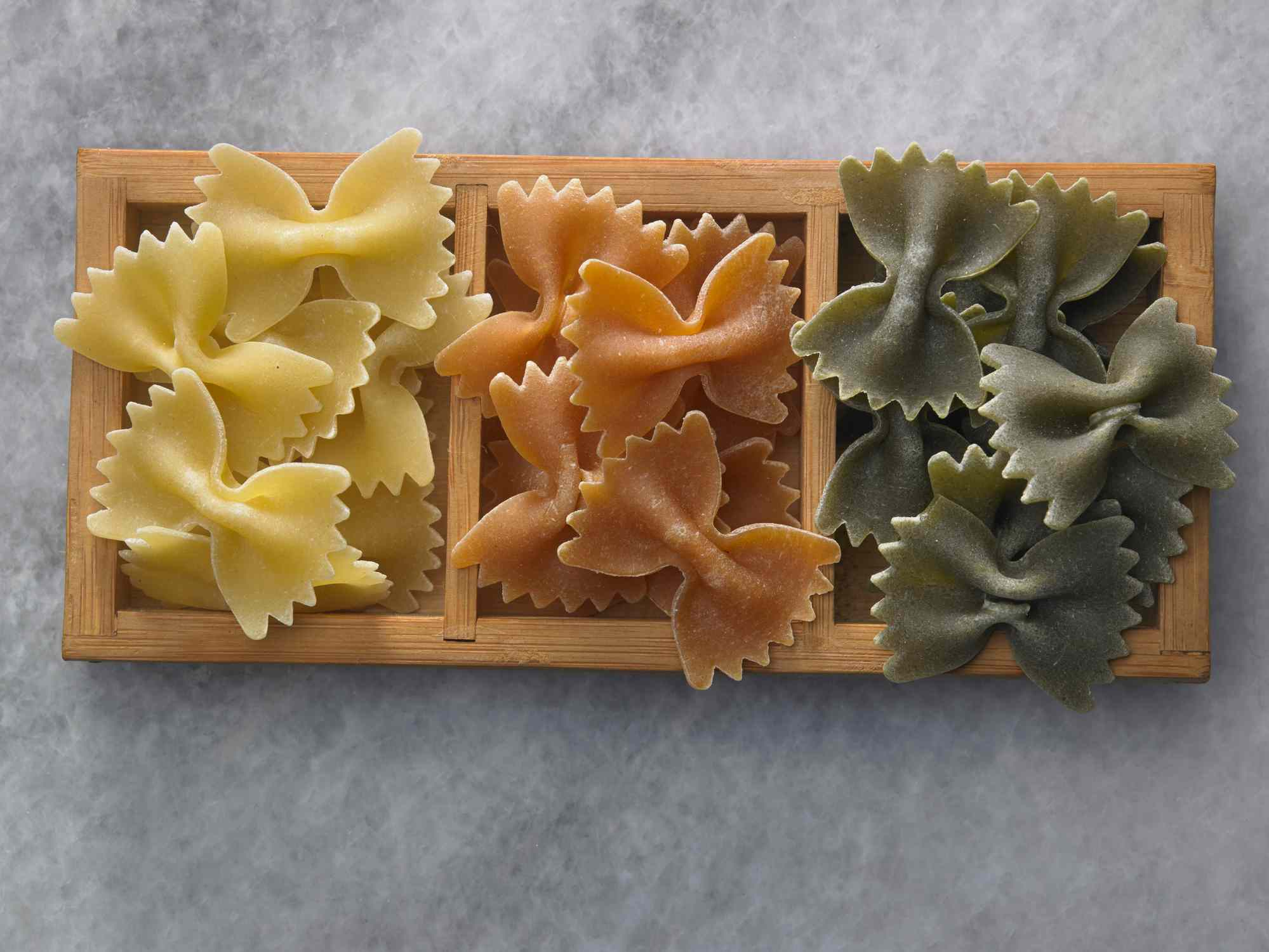 Close-Up Of Farfalle Pasta In Bowl