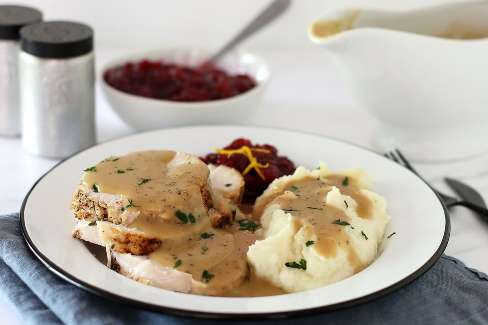 Instant Pot turkey breast, plated