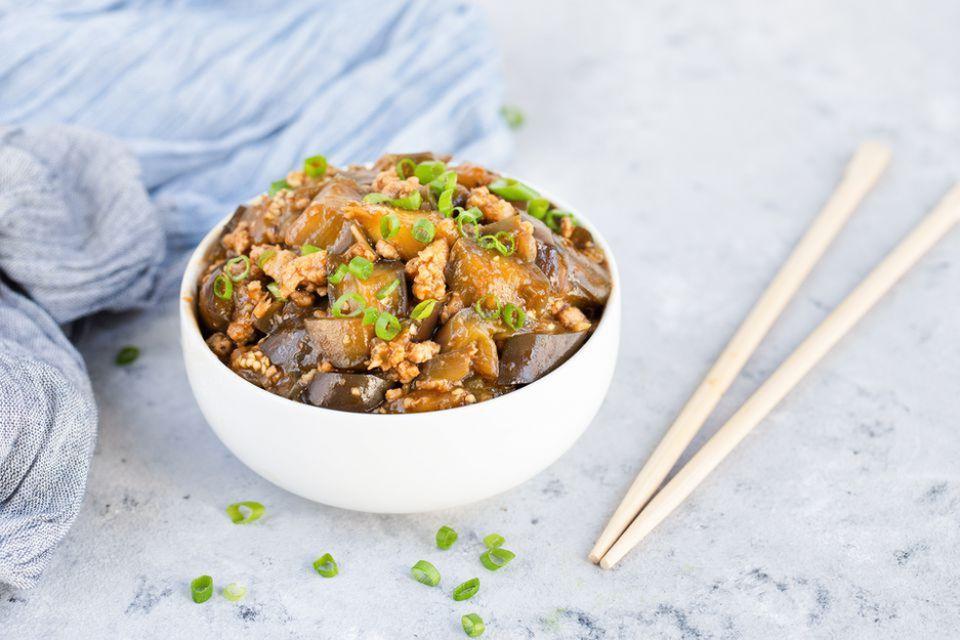 Szechuan Eggplant and Pork in Garlic Sauce