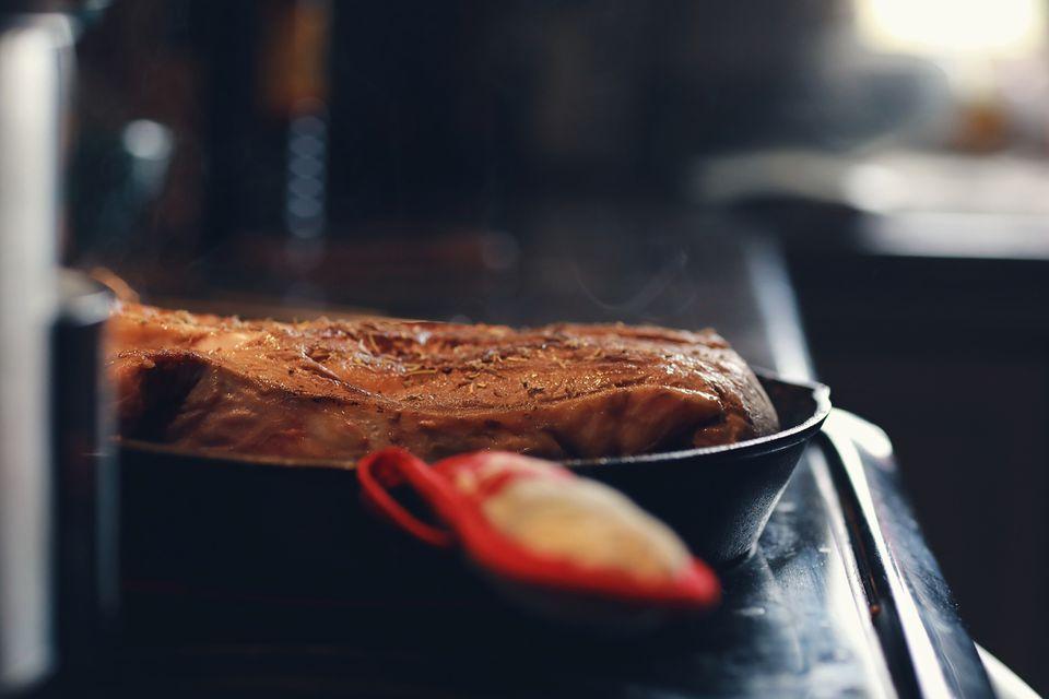 Pot roast in a pan