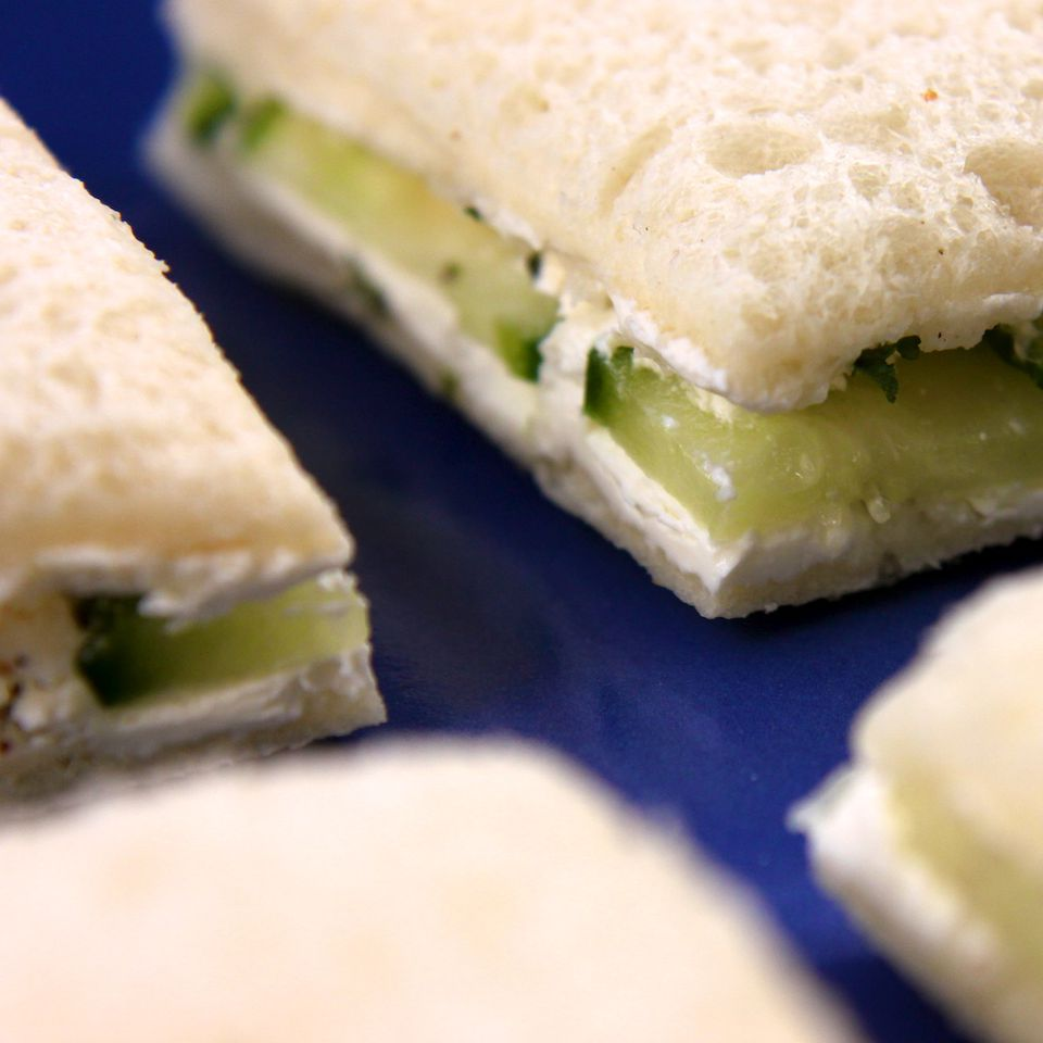 An image of Cucumber & Cream Cheese Finger Sandwiches.
