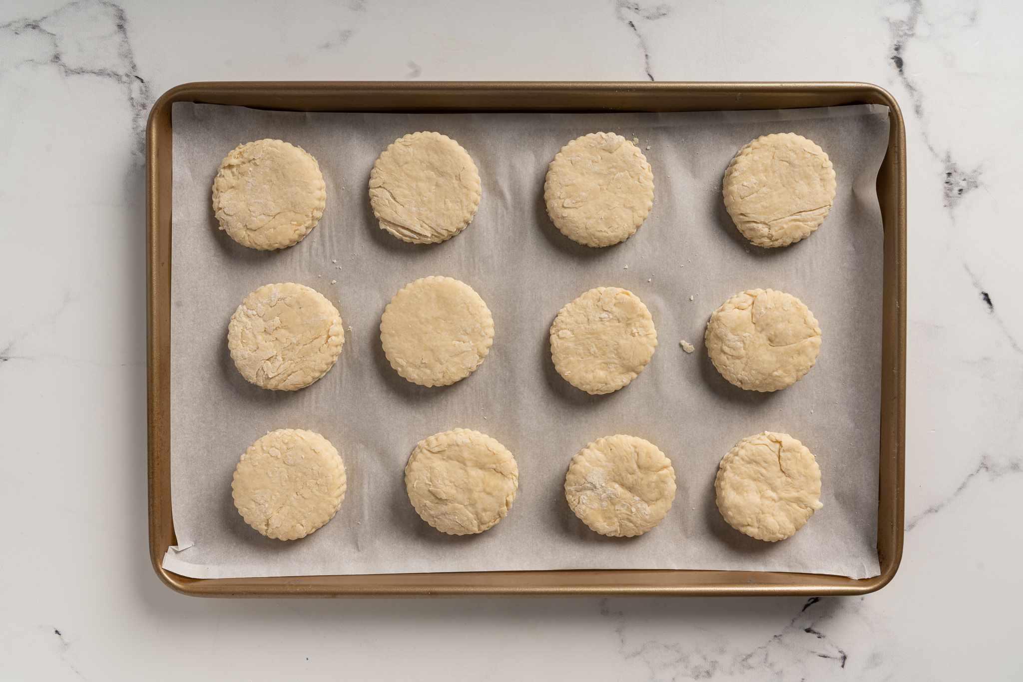 Pennsylvania Dutch Lard Biscuits on a baking sheet