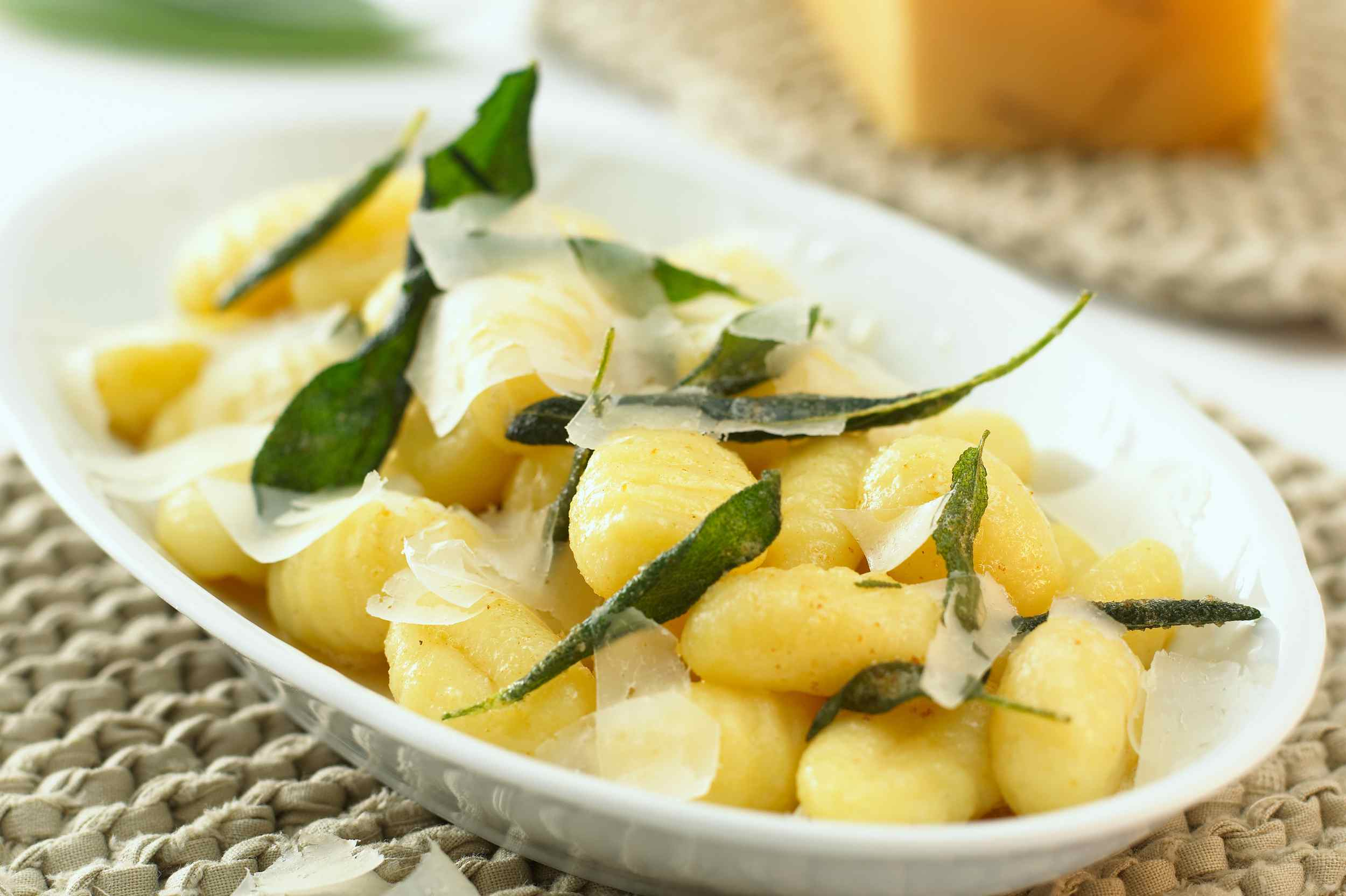 Gnocchi with butter, sage, and shaved Parmesan