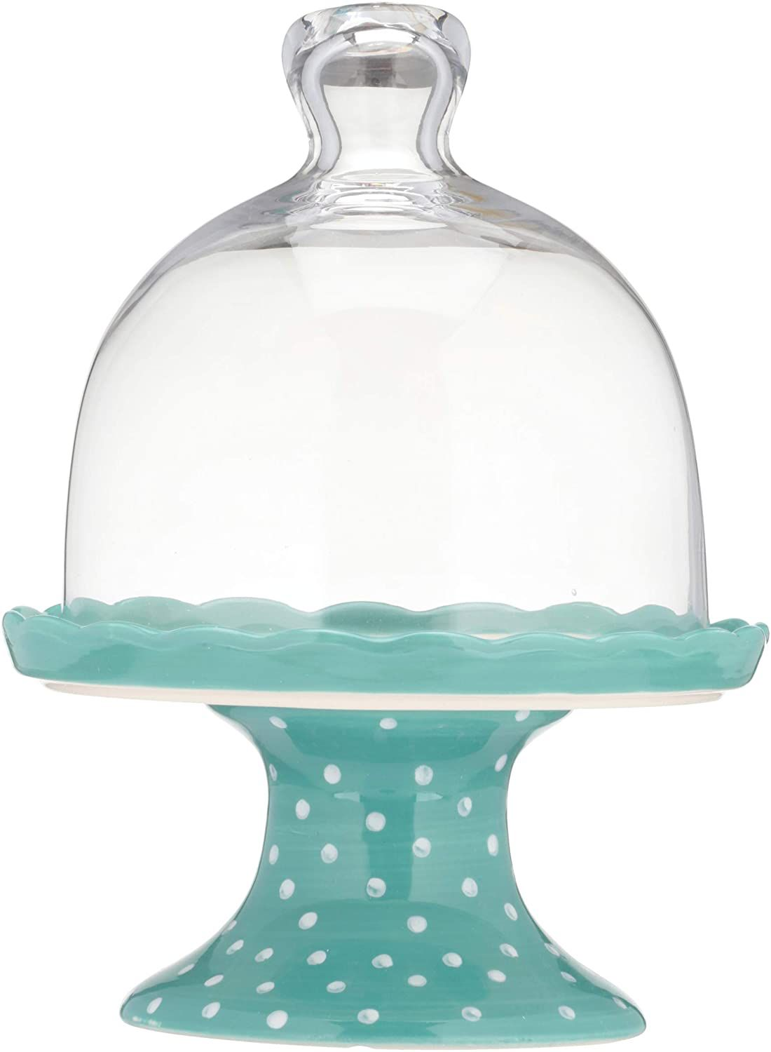 The Pioneer Woman Flea Market Floral Polka Dot Mini Cupcake Stand with Lid