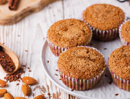 Gluten free flax meal and almond flour muffins