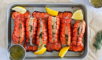 Remove lobster tails from grill