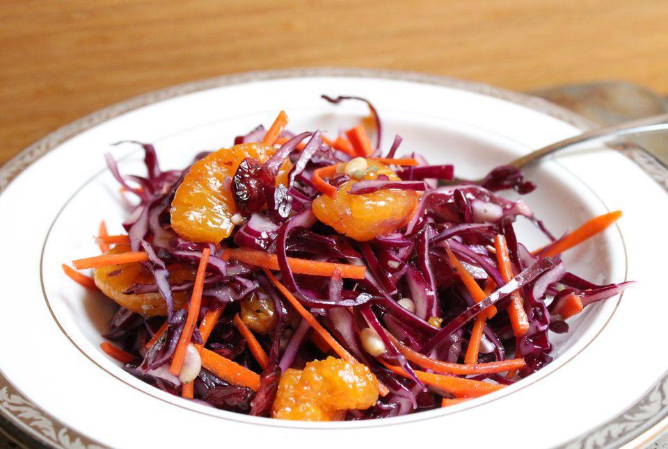 Purple Cabbage Salad With Mandarin