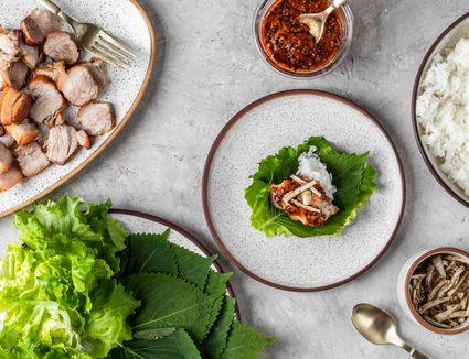 Korean Pork Belly (Bossam)