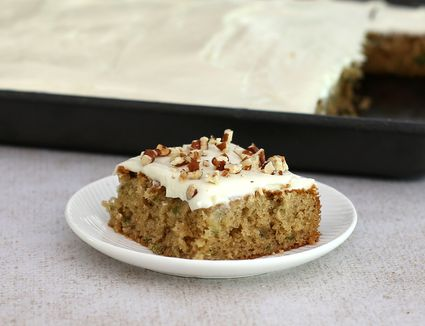 Zucchini Sheet Cake With Cream Cheese Frosting
