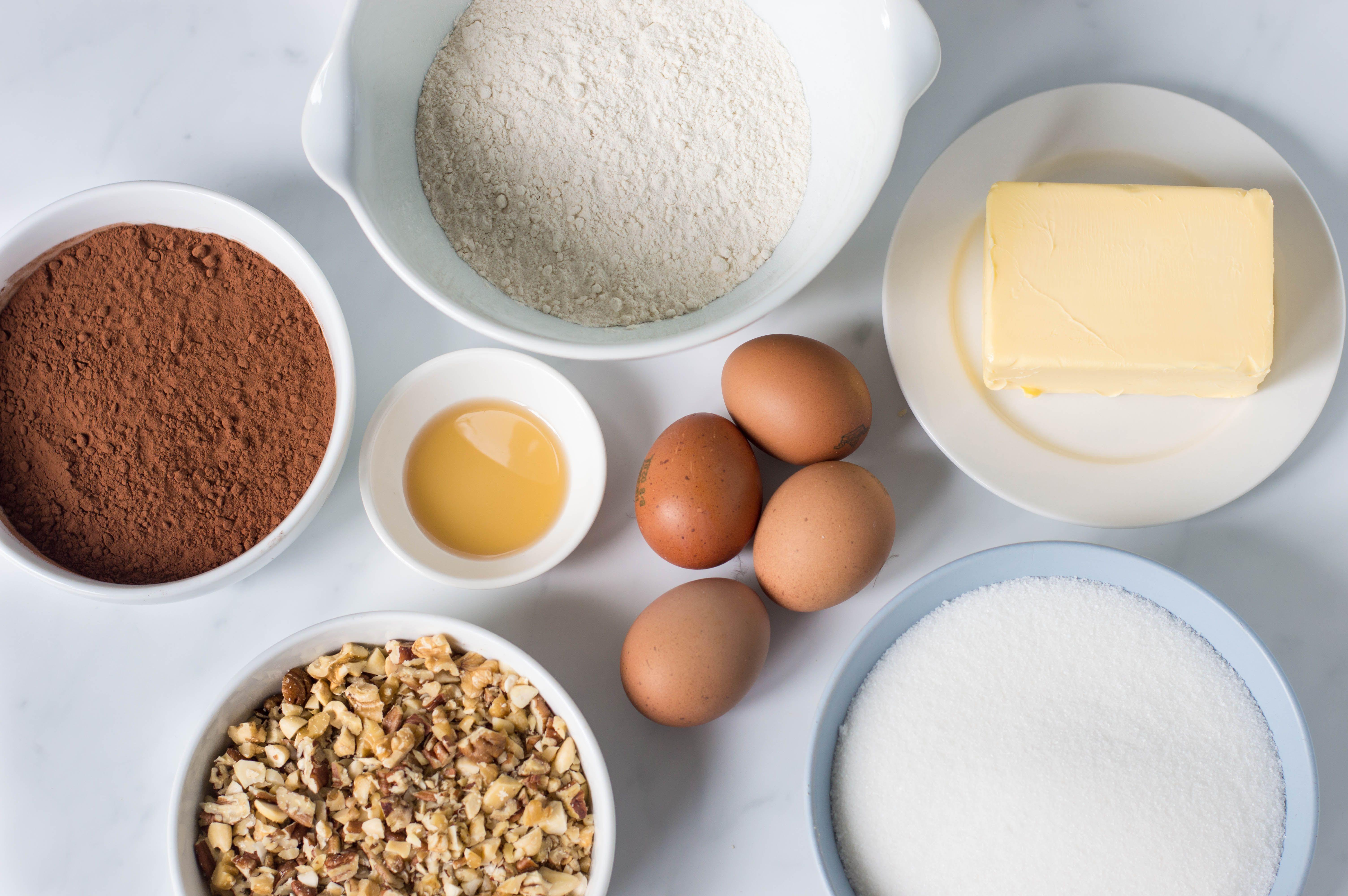 Chocolate Fudge Brownies Recipe ingredients