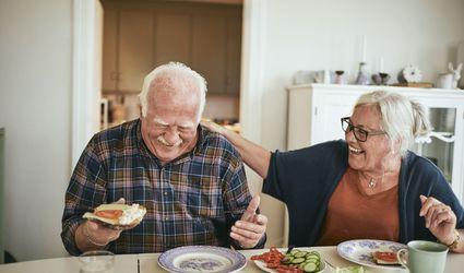 Senior Couple Breakfast