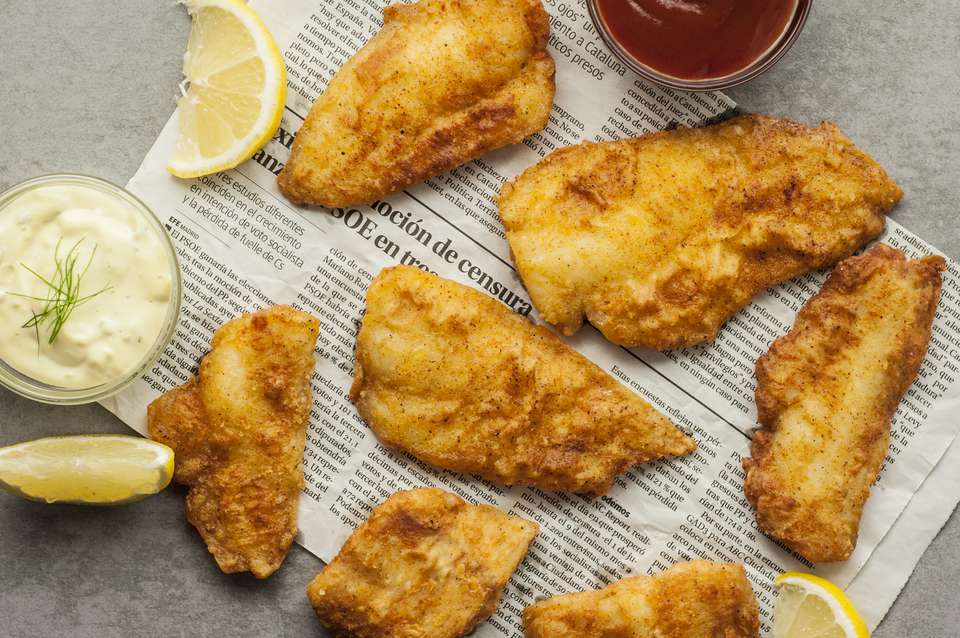 Easy fried fish fillets.