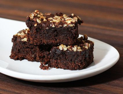 brownies with chocolate chips and walnuts