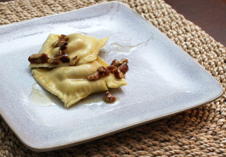 Sweet Potato Ravioli With Brown Butter Pecan Sauce Recipe