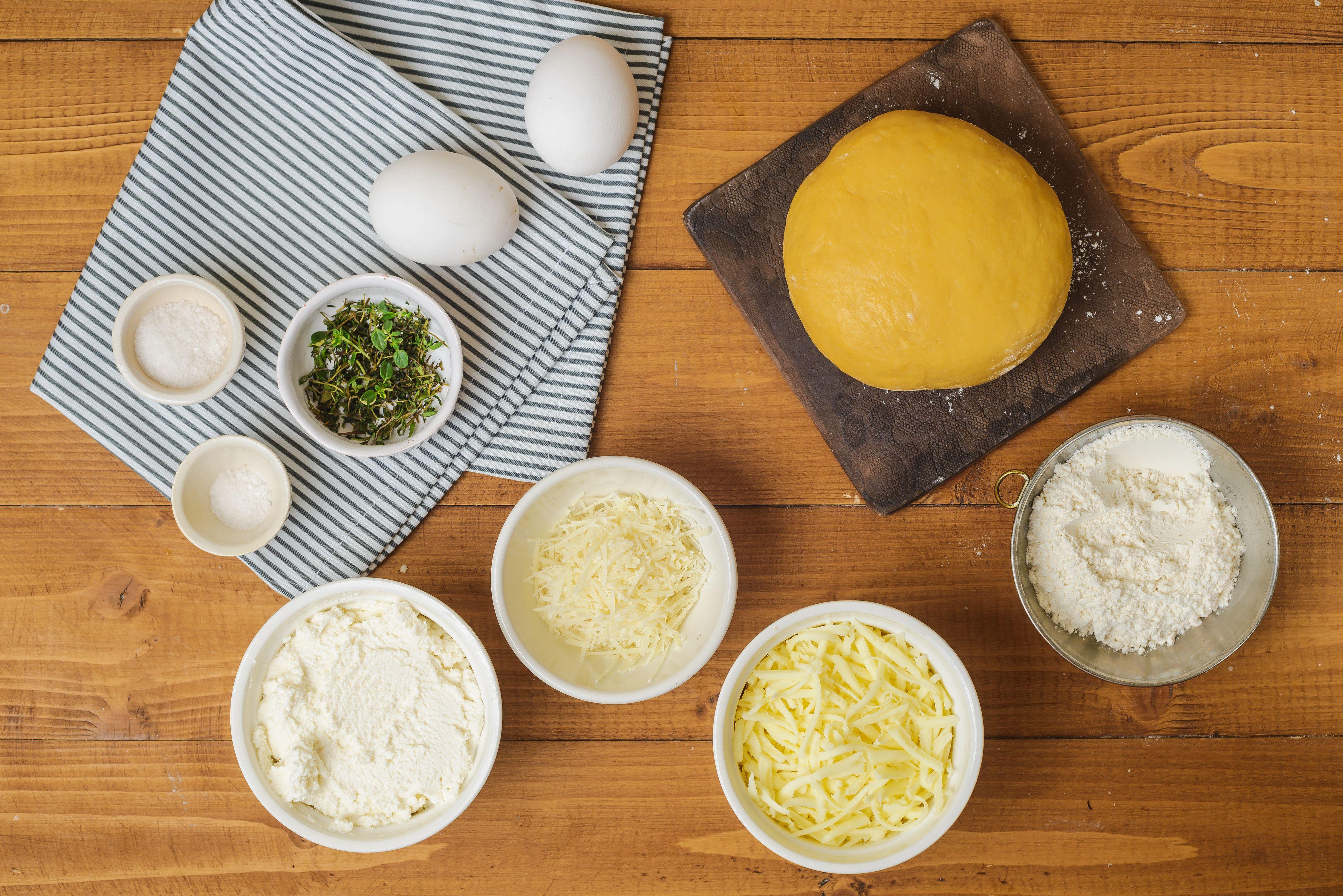 Ingredients for ravioli