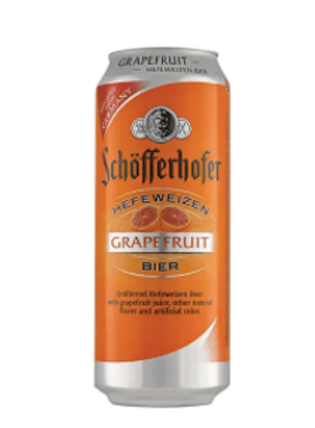 Schofferhofer Beer, Hefeweizen, Grapefruit