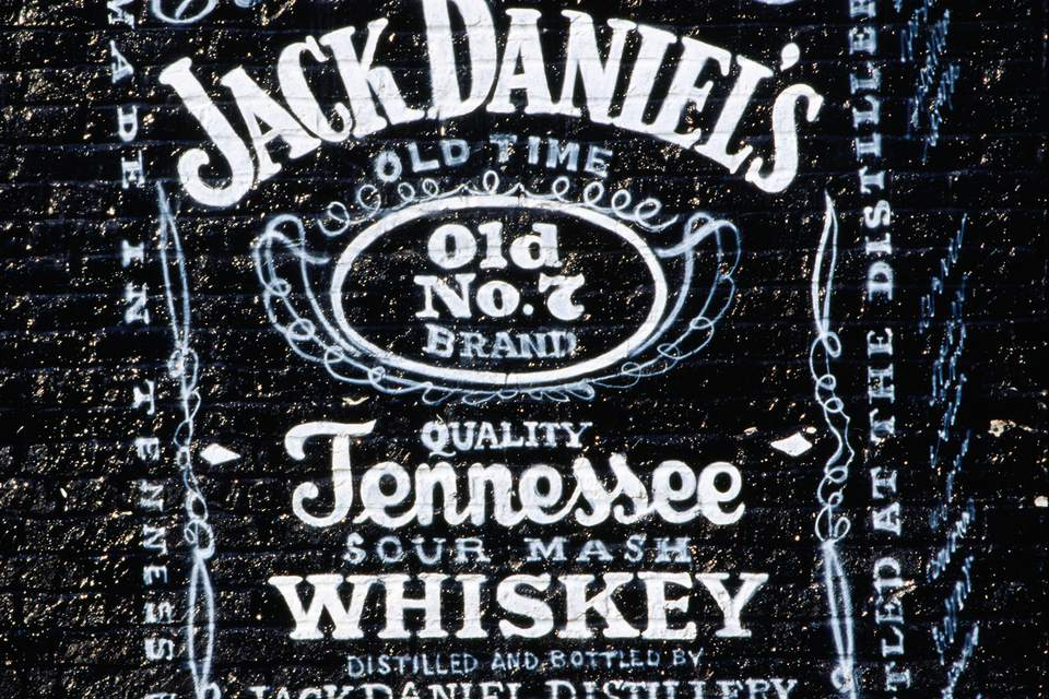 Jack Daniel's Tennessee Whiskey Mural on Beale Street