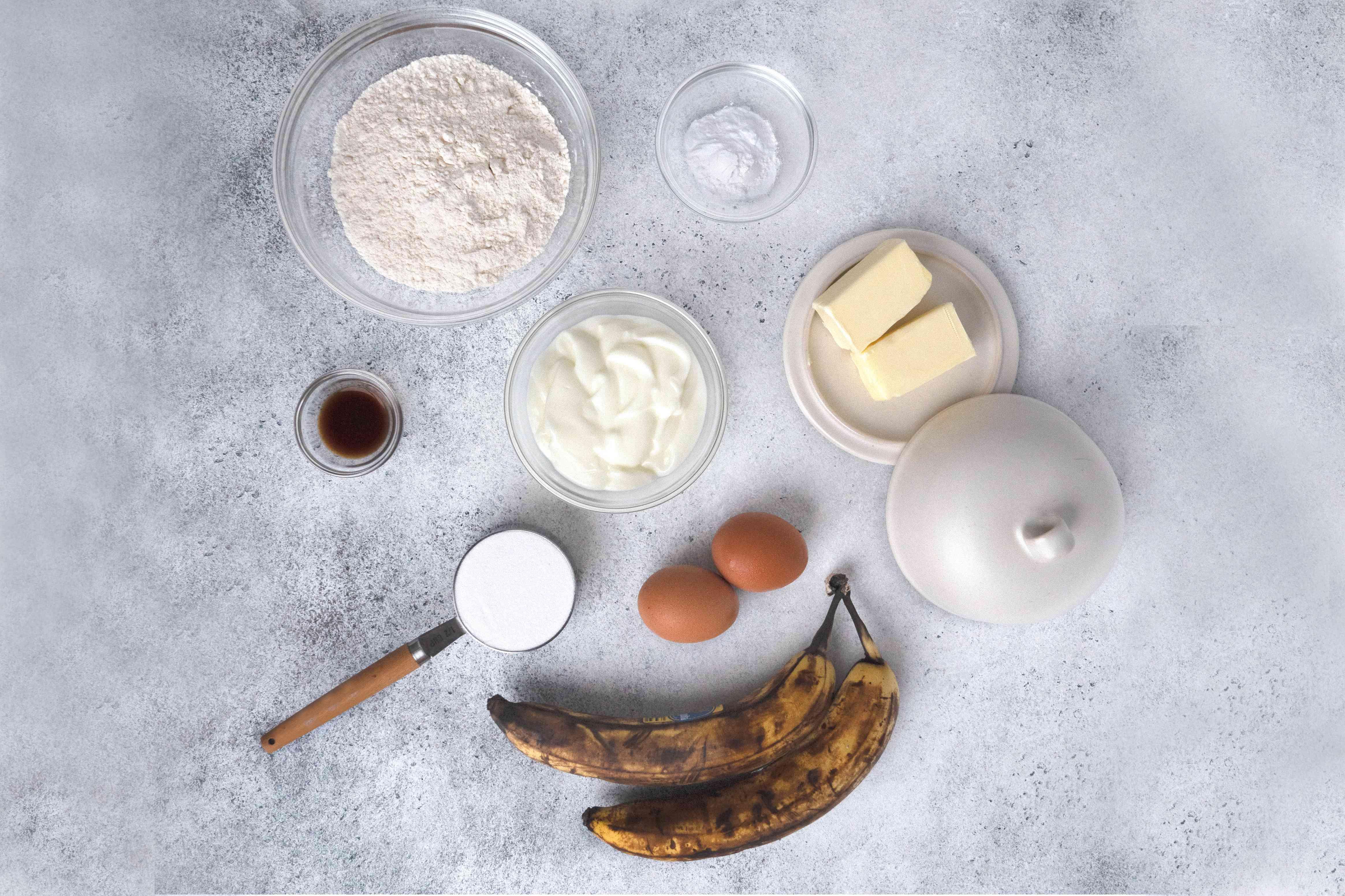 Banana Yogurt Cake ingredients