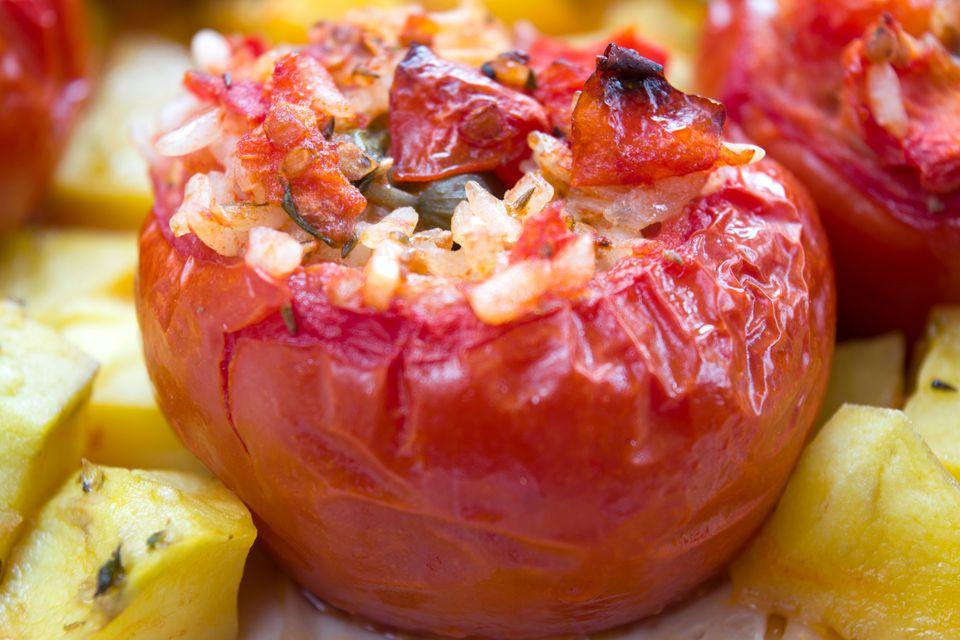 Close-Up Of Stuffed Tomato