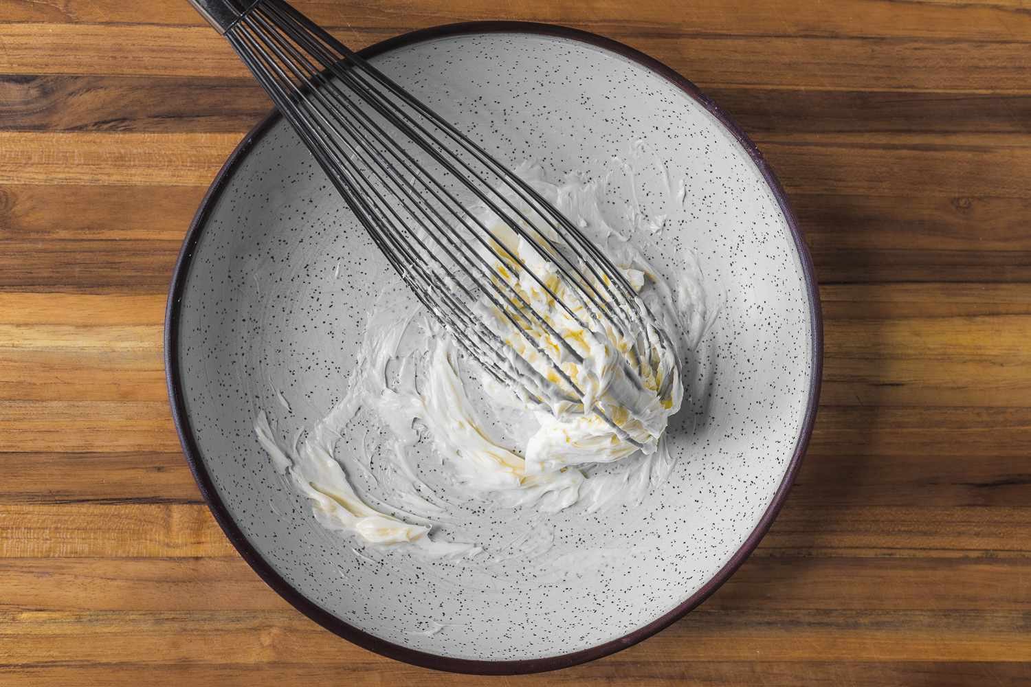 Beat the softened butter with garlic