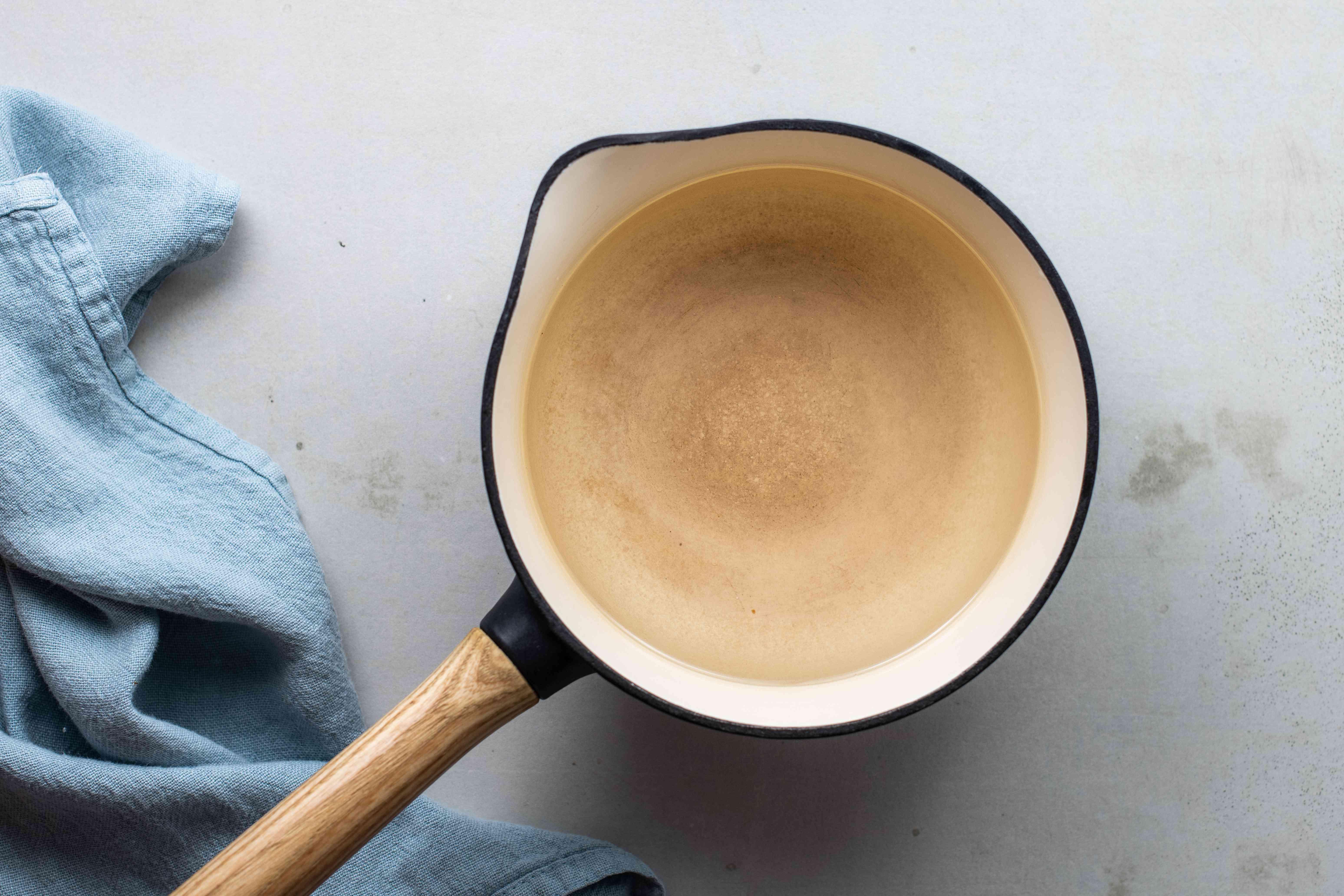 Water in pan