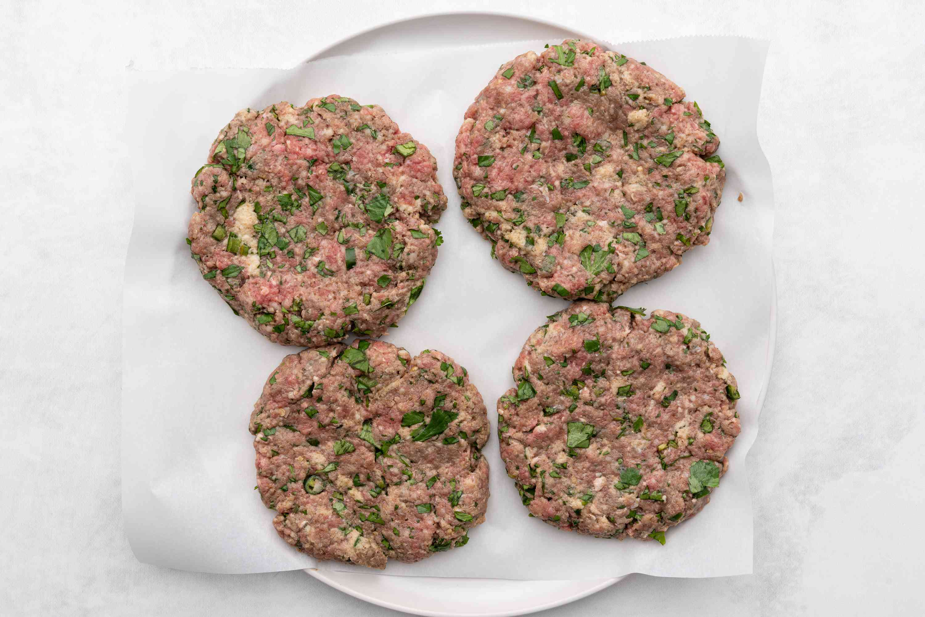 meat patties on a plate