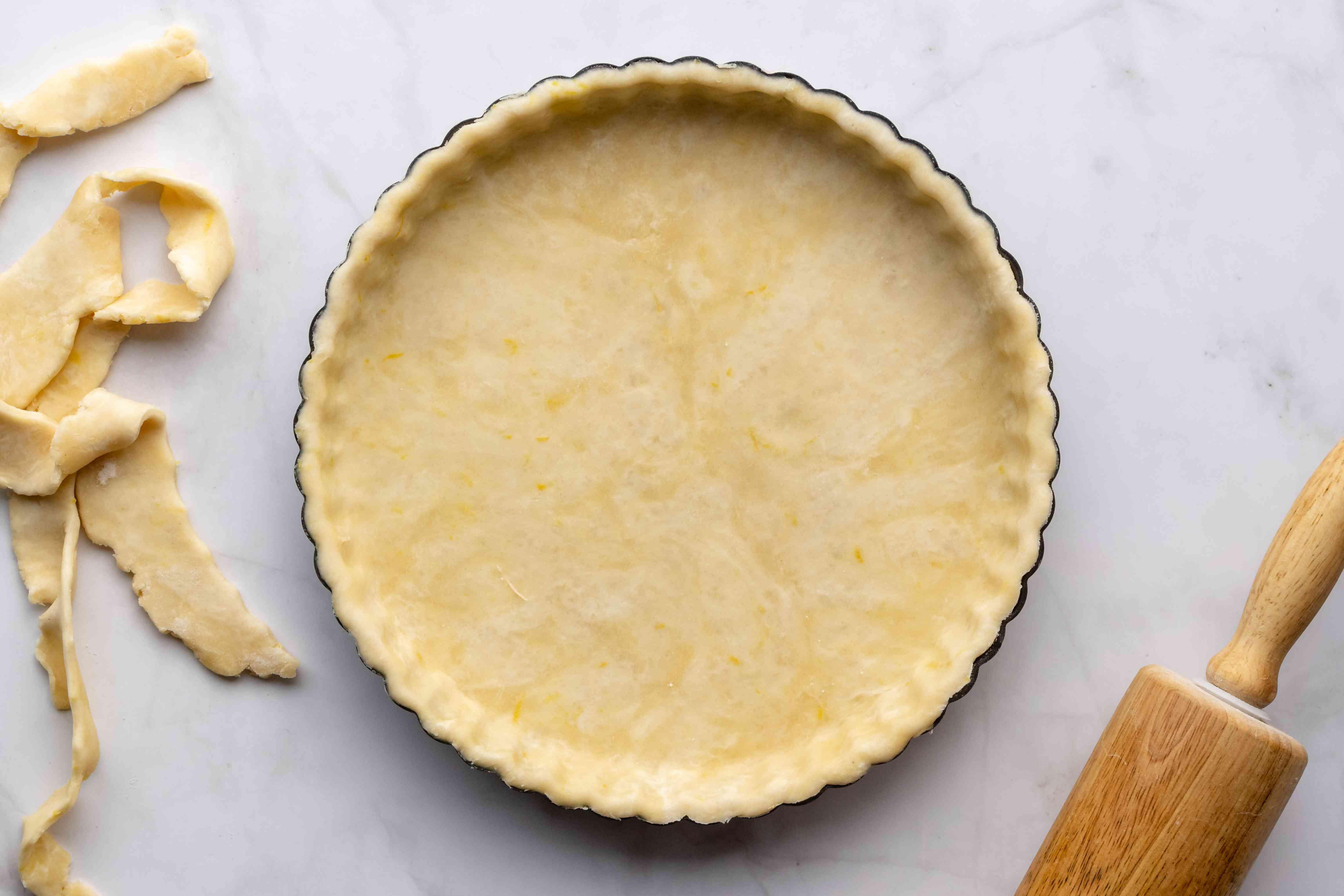 tart dough / pastry in a tart pan