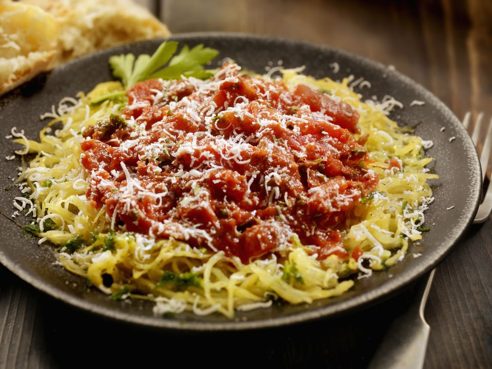 Spaghetti Squash With Tomatoes and Parmesan