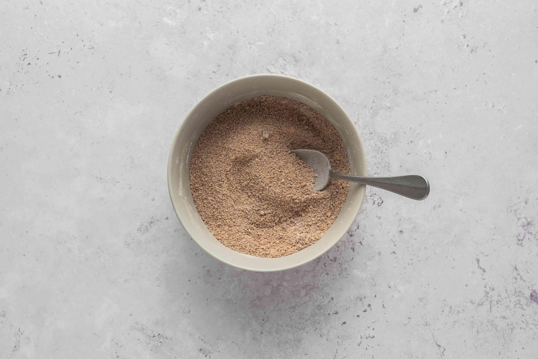 sugar, cornstarch, and cinnamon in a small bowl