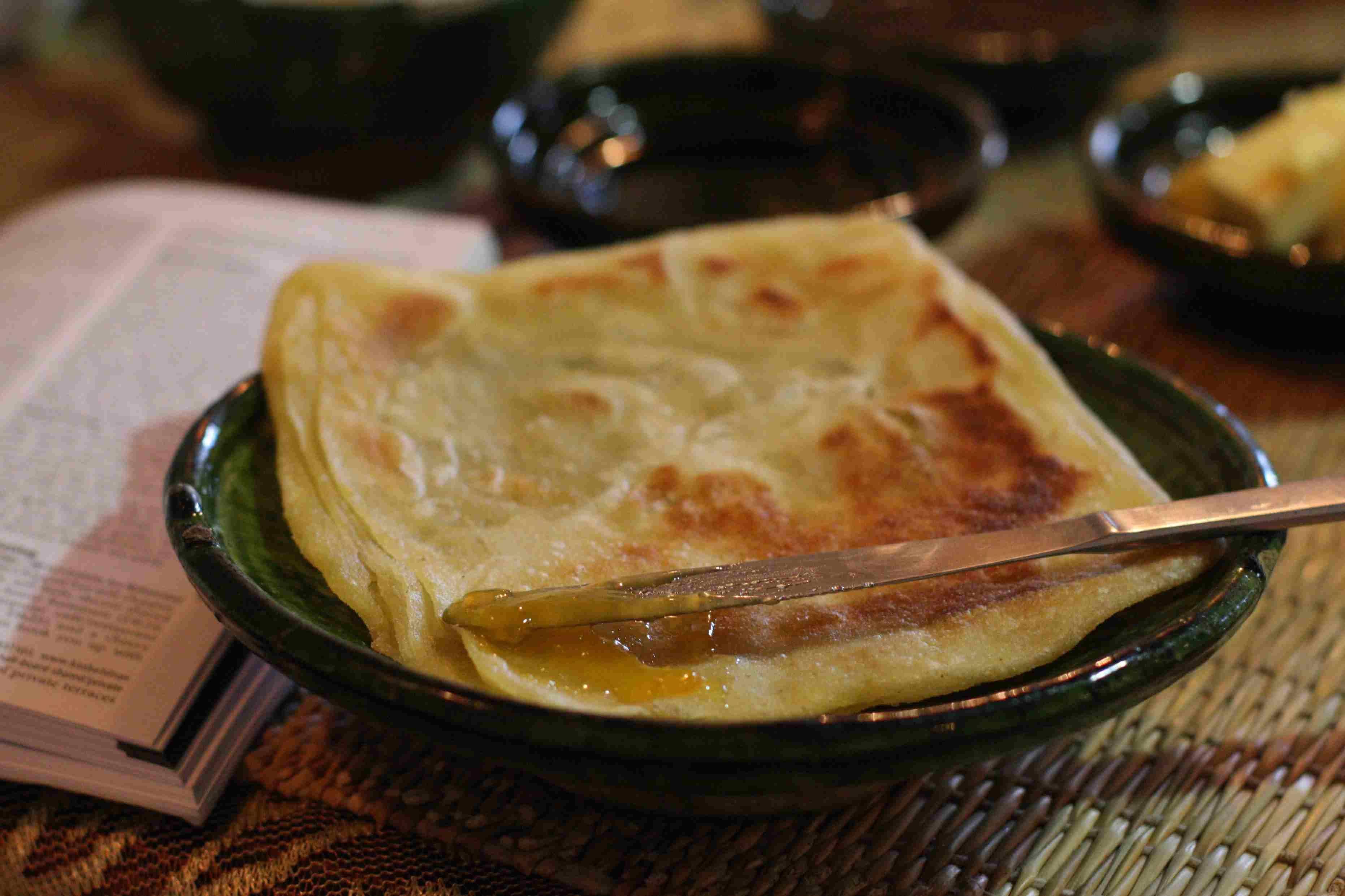 A plate of Moroccan msemen
