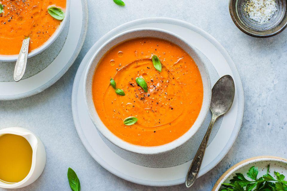 Vegan gazpacho soup