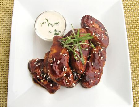 Vegan Chinese Chicken Wings with Hoisin Sauce