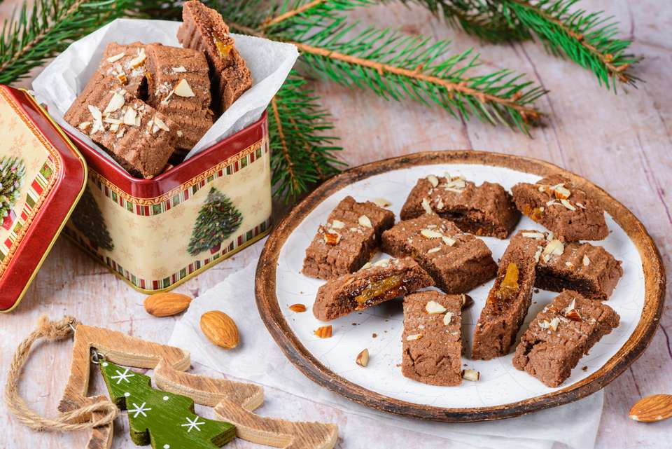 German jam filled chocolate spritz cookies recipe